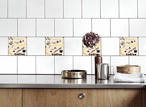 Küche Fliesen Aufkleber Kaffee Vinyl Film Für Badezimmer Wand Fliesen Ideen  Verschiedene Größen   16pcs