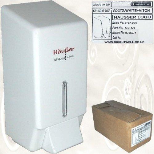 Seifenspender Häußer Reinigungstechnik -soap dispenser - weiss/white H=24 cm, B= 11,3 cm ,T= 11 cm [CR1 SOAP DISP, No. 2246, Part 1801/1]