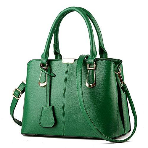 Myleas Neue Mode Kunstleder Leder Grün Damen Schultertasche Handtaschen Rucksack Hobo für Frauen