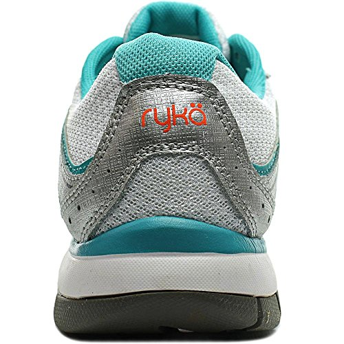 Ryka Crusade 2 Synthétique Chaussure de Course White-Silver-Teal-Orange