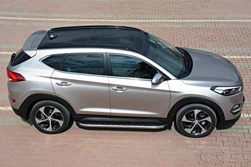 Trittbretter passend für Hyundai Tucson ab Baujahr 2015 Model Hitit in Chrom mit TÜV und ABE
