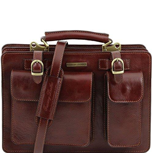Tuscany Leather - Tania - Sac à main en cuir - Grand modèle Miel - TL141269/3 Marron