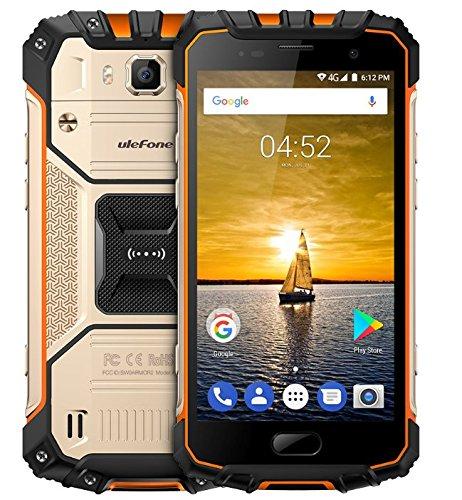 Ulefone Armor 2 - 5.0 pulgadas FHD IP68 Impermeabilice 4G Android 7.0 Smartphone, Helio P25 Octa Núcleo 2.6GHz 6GB RAM 64GB ROM, cámara de 13MP + 16MP NFC GPS 4700mAh batería CARGA RÁPIDA - Oro