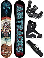 AIRTRACKS SNOWBOARD SET - TABLA GOLDEN ARROW WIDE (HOMBRE) 158 - FIJACIONES SAVAGE - BOTAS STRONG 45 - SB BOLSA/ NUEVO