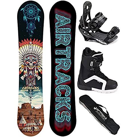 AIRTRACKS SNOWBOARD SET - TABLA GOLDEN ARROW WIDE (HOMBRE) 158 - FIJACIONES SAVAGE - BOTAS STRONG 45 - SB BOLSA/