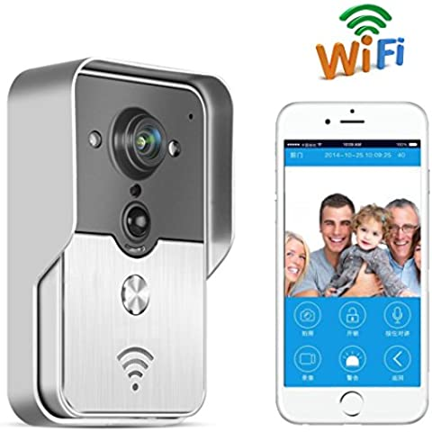 Toguard Wireless Video doorbell Intercom WIFI, PIR Motion activated,Waterproof,Support android/IOS APP,unlock by phone (WR230)…