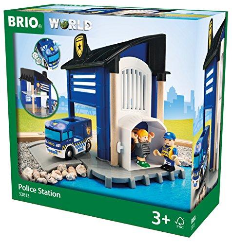 BRIO World 33813 - Polizeistation mit Einsatzfahrzeug