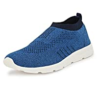 Bourge Men's Pearl-3 Blue and Navy Running Shoes-6 UK (40 EU) (7 US) (Vega Pearl-3-06)