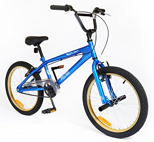 New Girls/Boys Silverfox Flight Bmx 20 Inch Bike Blue/Black/Tanned - Blue/Black/Tanned - Best Price and Cheapest
