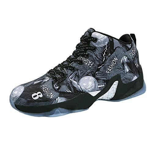 lage Männliche Basketball-Schuhe Laufschuhe für den Außenbereich, Outdoor Sport Schuhe Atmungsaktiv Rutschfeste Flache Snekers ()