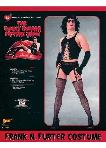 Horror Fancy Dress Kostüm Rocky - Mens Rocky Horror Frank N Furter Kostüm