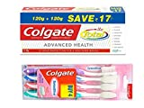 #8: Colgate Total Advanced Health Toothpaste - 240 g with Sensitive Toothbrush (Pack of 4)