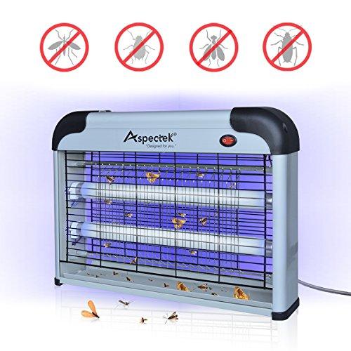 UPGRADED Aspectek 20W Insektenvernichter – hygienische und schnelle Fliegenvernichtung – besonders geeignet für Küchen und Restaurants –...