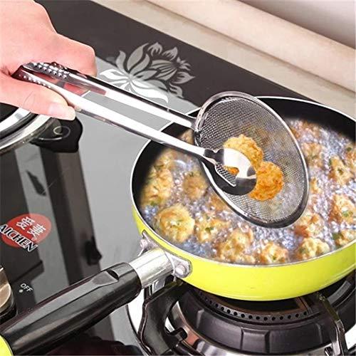 Lindames Cuchara de filtro multifuncional de cocina nueva con filtro de ensalada de barbacoa de aceite de freír comida Coladores y filtros