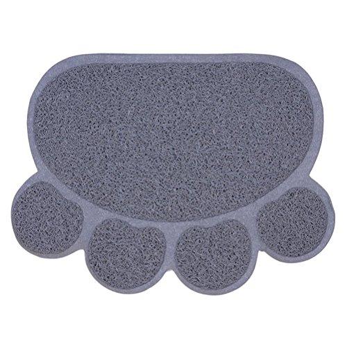 Wenosda Tierfutter / Fütterung / Schüssel Matte / Pad für Hund & Katze (grau, 40X30CM / 15.7x12IN)