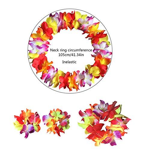 CDKJ Hawaiian Blume für Kleine Geschenke Kränzen Headbands Strand Urlaub Dekoration 4Stück