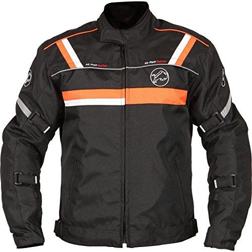 Buffalo Typhoon - Giacca da moto, Donna uomo, Black Orange,