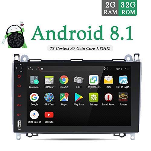 Android 8.1 in Armaturenbrett Autoradio Video Multimedia Navigator mit WiFi Bluetooth für Benz B200 / Benz Viano GPS Navigation Freie Kamera & Canbus (Smartphone-chinesischen Ram 2gb)