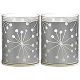 Bolsius 2x Windlicht Sparkle Lights Kristall Silber Dekokerze Kerze Windlichter