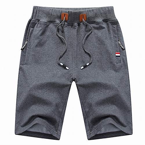 CHLCH Herren Sport Shorts Jogginghose KordelzugHerren Freizeitshorts Dunkelgrau 4XL