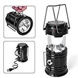 #9: House Hold LED Solar Rechargeable Camping Lantern With Tourch (Without Tourch)