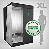 GrowPRO Growbox 2.0 XL 120x120x200cm - idealer Growschrank/Growzelt für Homegrow