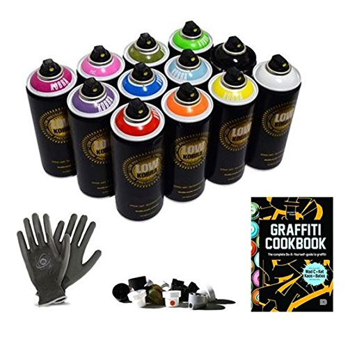 graffiti-starter-pack-12-spray-paint-cans-tutorial-book-protective-gloves-try-out-cap-set-perfect-fo