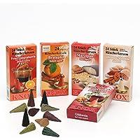 XL Sparpack 5 Päckchen Knox Räucherkerzen - Bratapfel, Marzipan, Gebrannte Mandel, Glühwein und Feuerzangenbowle preisvergleich bei billige-tabletten.eu