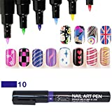 16 Farben Nail Art Pen Nagellack Stift 3D Nail Art Dekoration DIY Nagel-Design Profi Nagellack Stift-Set Molie