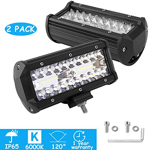 LEDMO 2X60W 40Leds Focos de Coche LED IP67 6000K Impermeable 10V-30V Lampara...