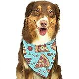 Hipiyoled Bandane per Animali domesticiCartoon Pizza Pattern Adjustbable Collars Pet Bandana Bibs for Puppy Cats