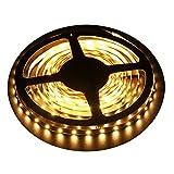LED Streifen Warmweiß,LED Strip Streifen Licht 5M,300 SMD 3014 LEDs Lichtband Leiste,DC24V Lichtleiste Bänder küchenschrank beleuchtung (2700-3000K)
