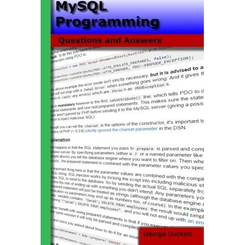 MySQL Programming: Questions and Answers by George A Duckett (2016-04-13)