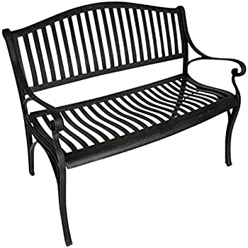 mediterrane sitzbank pablo gartenbank metall bank garten rostoptik b117cm. Black Bedroom Furniture Sets. Home Design Ideas