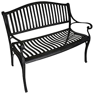 gartenmoebel einkauf gartenbank napoli aus aluguss antik grau wetterfest. Black Bedroom Furniture Sets. Home Design Ideas