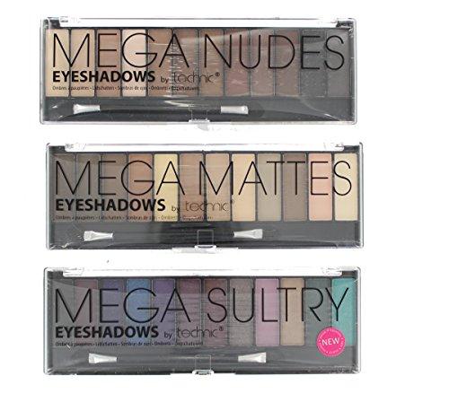 Technic Mega Nude, Mega Sultry & Mega Matte Eyeshadow Collection