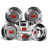 Sumeet Stainless Steel Heavy Gauge Bowl Set / Wati Set With Mirror Finish 10cm Dia - Set Of 6pc