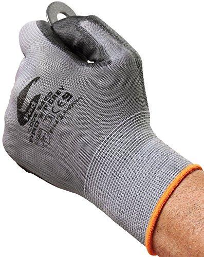 Grau Builders Handschuhe - Ideal für Bauherren, Handwerker, Elektriker, Klempner, Baumärkte und Berufsbekleidung. (Klein EU 8)
