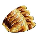 Croissants Brot–Frankreich Paris doppelseitig oval Nagelfeile Emery Board 4Stück