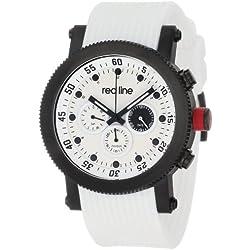 Red Line Compressor Herren 45mm Weiß Silizium Armband Uhr 18101-02-BB-WHT-ST
