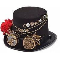 Double Villages Unisexo Steampunk Sombrero de Cosplay Sombrero de fiesta Sombrero  de copa (Circunferencia de c651d154c0e