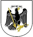 8 x 6,8 cm - Wappen Kontur geschnitten - Autoaufkleber Preussen Adler