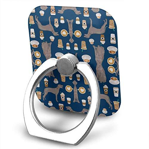 Nicegift Weimaraner Dog 360 Rotating Phone Metal Buckle Tablet Finger Grip Ring Stand Holder Kickstand for All Phones Tablets -