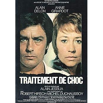 TRAITEMENT DE CHOC Delon - Girardot Affiche livret de presse Cinéma Film