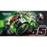 Kawasaki Toalla de playa. Baño (. Toalla Grande. Kawasaki Jonathan Rea # 65de bikerworld