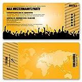 (40 x) Einladungskarten Geburtstag Eintrittskarte Party Ticket Einladungen Orange