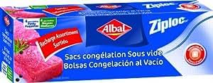Albal - 8410208203950 - Ziploc Sous Vide - Assortiment - Boite de 4 Sacs Petits Modèle + 4 Moyen Modèle