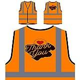 Retro-Ringraziamento-Scheda Personalizzato Hi Visibilità Giacca Gilet Arancione di sicurezza i700vo