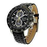 Seiko Orologio Cronografo Automatico Uomo con Cinturino in Pelle SSC361P1