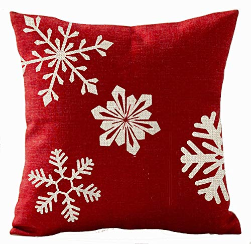 GONIESA Cotton Polyester Square Decorative Throw Pillow Case Cushion Cover Beige Shadow Deer Red Background 16x16 Inch/40cmx40cm by Queen's Designer